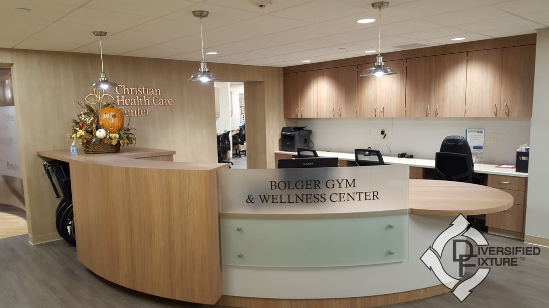 Reception Area at Bolger Gym & Wellness Center